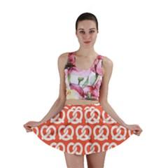 Coral Pretzel Illustrations Pattern Mini Skirts