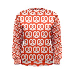 Coral Pretzel Illustrations Pattern Women s Sweatshirts