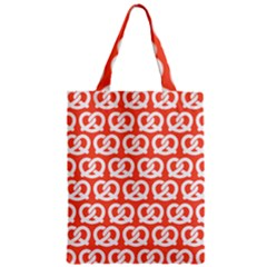 Coral Pretzel Illustrations Pattern Zipper Classic Tote Bags