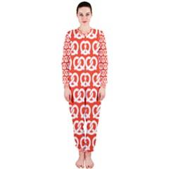 Coral Pretzel Illustrations Pattern Onepiece Jumpsuit (ladies)