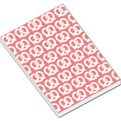 Chic Pretzel Illustrations Pattern Large Memo Pads