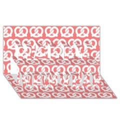 Chic Pretzel Illustrations Pattern Happy New Year 3D Greeting Card (8x4)
