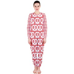 Chic Pretzel Illustrations Pattern Onepiece Jumpsuit (ladies)