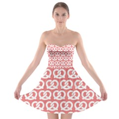 Chic Pretzel Illustrations Pattern Strapless Bra Top Dress