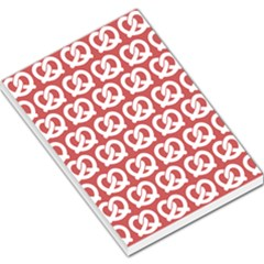 Trendy Pretzel Illustrations Pattern Large Memo Pads