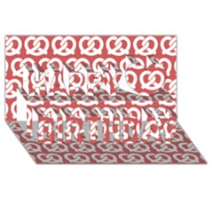 Trendy Pretzel Illustrations Pattern Happy Birthday 3d Greeting Card (8x4)