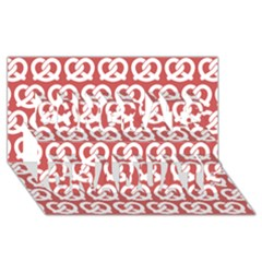 Trendy Pretzel Illustrations Pattern Congrats Graduate 3D Greeting Card (8x4)