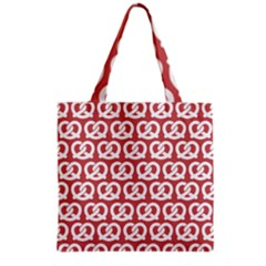 Trendy Pretzel Illustrations Pattern Grocery Tote Bags