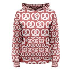 Trendy Pretzel Illustrations Pattern Women s Pullover Hoodies