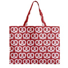 Trendy Pretzel Illustrations Pattern Zipper Tiny Tote Bags