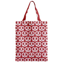 Trendy Pretzel Illustrations Pattern Zipper Classic Tote Bags