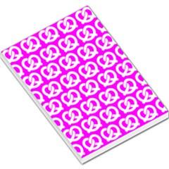 Pink Pretzel Illustrations Pattern Large Memo Pads