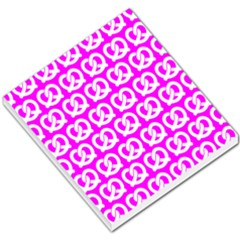 Pink Pretzel Illustrations Pattern Small Memo Pads