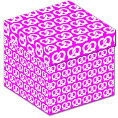Pink Pretzel Illustrations Pattern Storage Stool 12