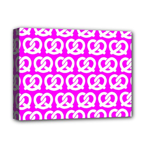 Pink Pretzel Illustrations Pattern Deluxe Canvas 16  x 12