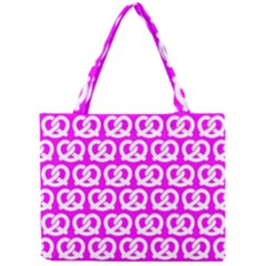 Pink Pretzel Illustrations Pattern Tiny Tote Bags