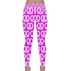 Pink Pretzel Illustrations Pattern Yoga Leggings