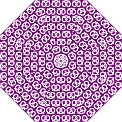 Purple Pretzel Illustrations Pattern Folding Umbrellas