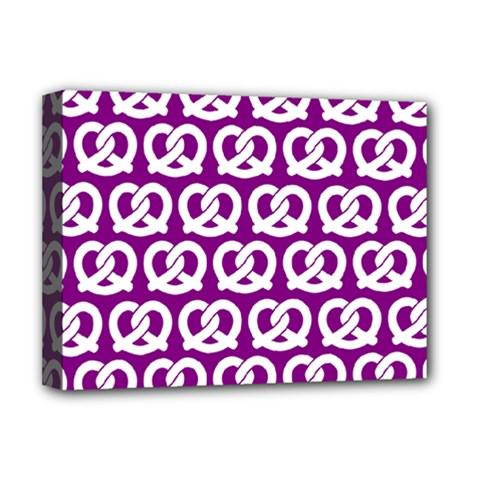 Purple Pretzel Illustrations Pattern Deluxe Canvas 16  x 12