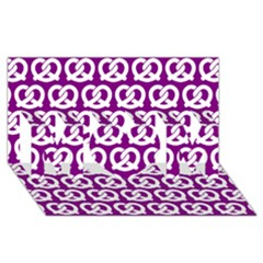 Purple Pretzel Illustrations Pattern Mom 3d Greeting Card (8x4)