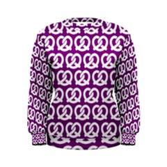 Purple Pretzel Illustrations Pattern Women s Sweatshirts