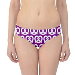 Purple Pretzel Illustrations Pattern Hipster Bikini Bottoms