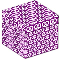 Purple Pretzel Illustrations Pattern Storage Stool 12