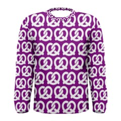 Purple Pretzel Illustrations Pattern Men s Long Sleeve T Shirts