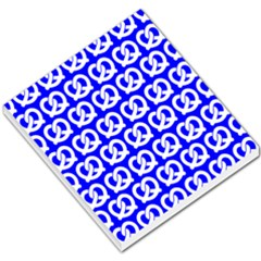 Blue Pretzel Illustrations Pattern Small Memo Pads