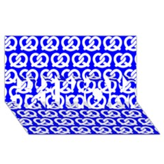 Blue Pretzel Illustrations Pattern #1 Mom 3d Greeting Cards (8x4)