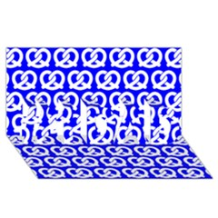 Blue Pretzel Illustrations Pattern #1 DAD 3D Greeting Card (8x4)