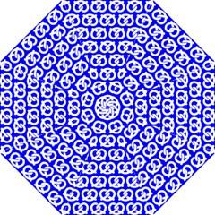 Blue Pretzel Illustrations Pattern Hook Handle Umbrellas (Small)