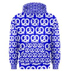 Blue Pretzel Illustrations Pattern Men s Pullover Hoodies