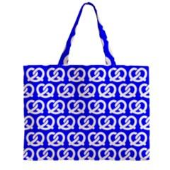 Blue Pretzel Illustrations Pattern Zipper Tiny Tote Bags