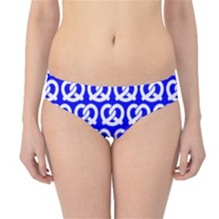 Blue Pretzel Illustrations Pattern Hipster Bikini Bottoms