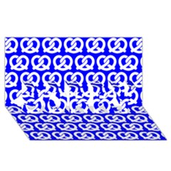 Blue Pretzel Illustrations Pattern SORRY 3D Greeting Card (8x4)