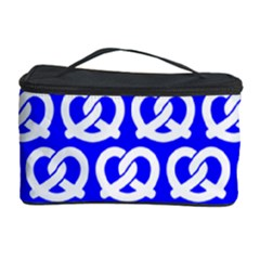 Blue Pretzel Illustrations Pattern Cosmetic Storage Cases