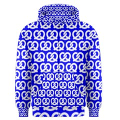 Blue Pretzel Illustrations Pattern Men s Zipper Hoodies