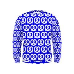 Blue Pretzel Illustrations Pattern Boys  Sweatshirts