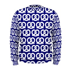Navy Pretzel Illustrations Pattern Men s Sweatshirts
