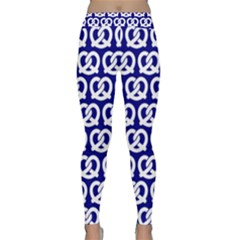 Navy Pretzel Illustrations Pattern Yoga Leggings
