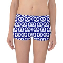 Navy Pretzel Illustrations Pattern Boyleg Bikini Bottoms