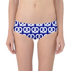 Navy Pretzel Illustrations Pattern Classic Bikini Bottoms