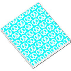 Aqua Pretzel Illustrations Pattern Small Memo Pads