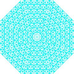 Aqua Pretzel Illustrations Pattern Hook Handle Umbrellas (Small)
