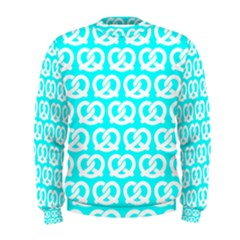 Aqua Pretzel Illustrations Pattern Men s Sweatshirts