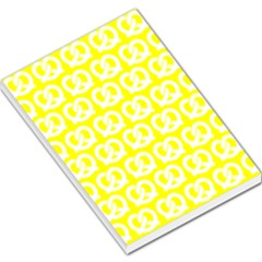 Yellow Pretzel Illustrations Pattern Large Memo Pads