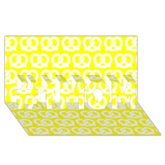 Yellow Pretzel Illustrations Pattern #1 Mom 3d Greeting Cards (8x4)