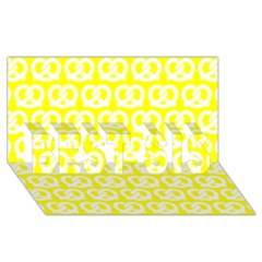 Yellow Pretzel Illustrations Pattern BEST SIS 3D Greeting Card (8x4)