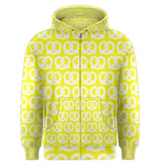 Yellow Pretzel Illustrations Pattern Men s Zipper Hoodies